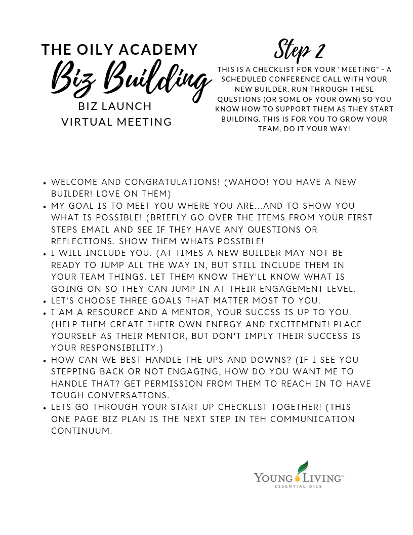 Biz Build step 2 Virtual MEETING